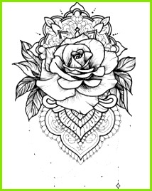 Rose Tattoo Vorlage Henna Tattoo Vorlagen Tattoos Vorlagen Lotusblüte Mandala Tattoo Blumen