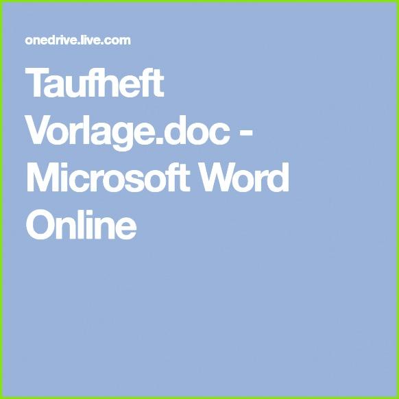 Taufheft Vorlagec Microsoft Word line