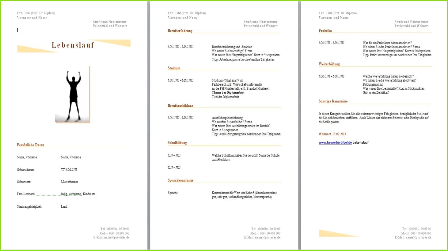 lebenslauf muster vorlagen – muster vorlage within gratis Vorlagen Kostenlos