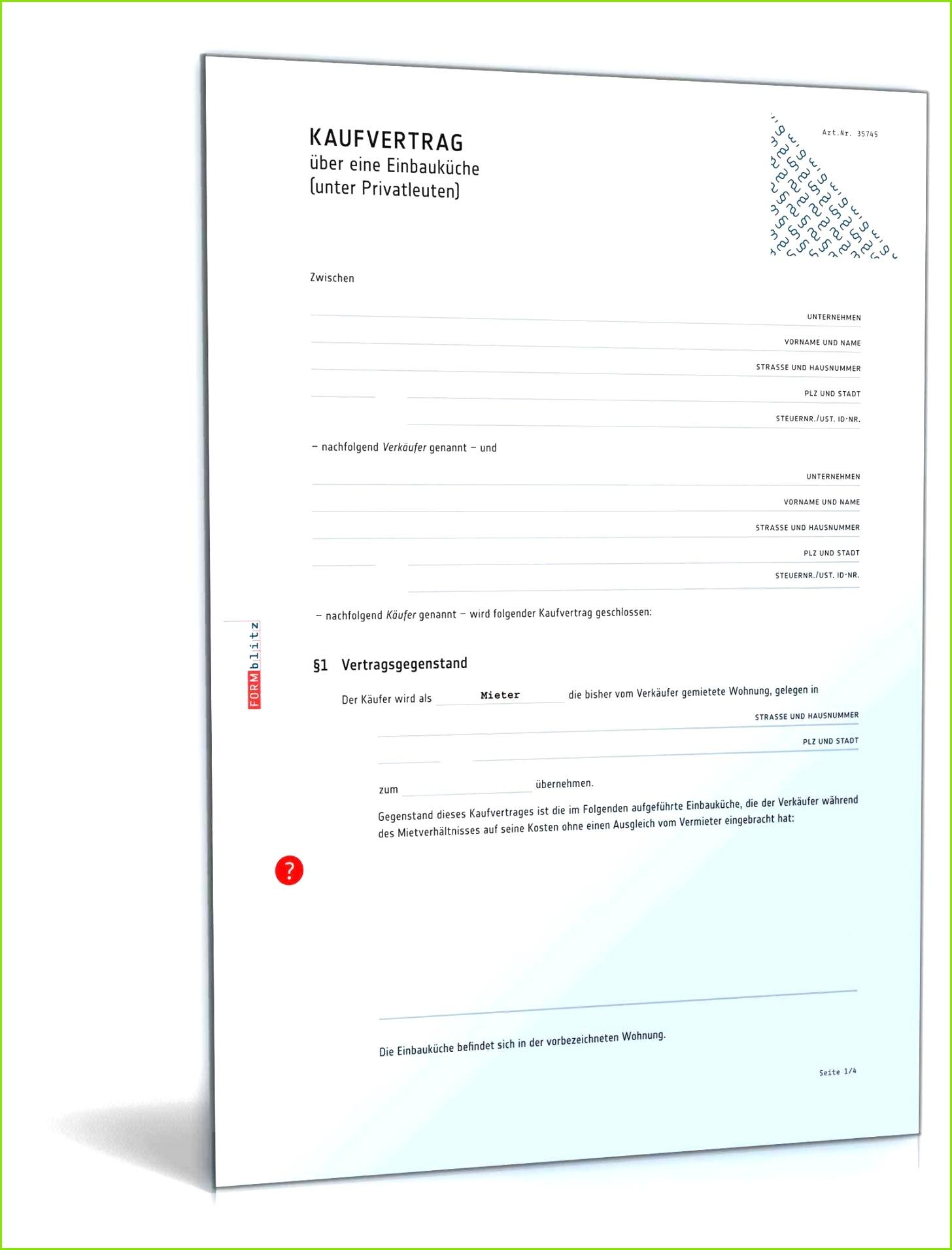 übernahme Küche Vormieter Vertrag Vorlage Angenehm Kaufvertrag