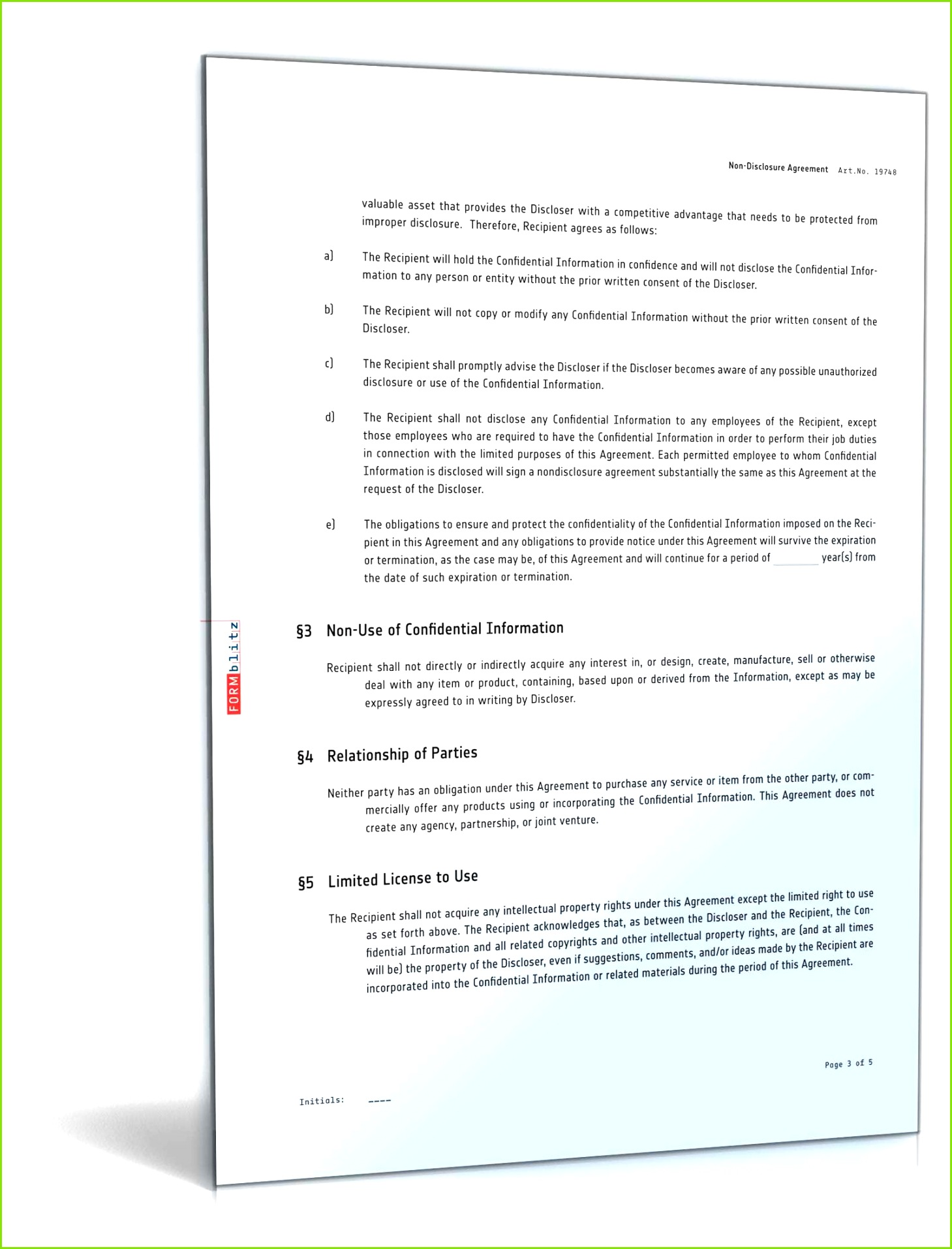 20 Geheimhaltungsvereinbarung Muster