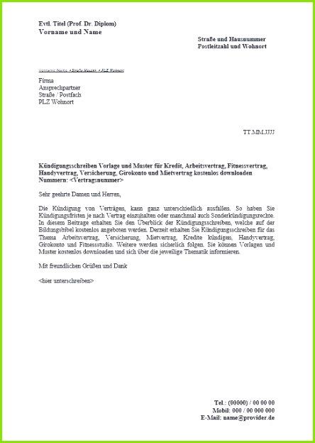 Kündigung Dsl Vertrag Muster Einzigartiges Dsl Vertrag Kündigen Vorlage