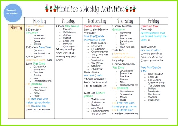 Weekly Kids Activity Planner blank one included to make your own to help you plan your days at home with your childr…