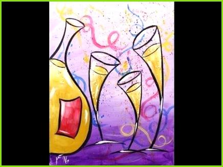 Happy New Year Step by Step Acrylic Painting on Canvas for Beginners 179 besten canvas techniques Bilder auf Pinterest – Vorlage Auf Leinwand übertragen