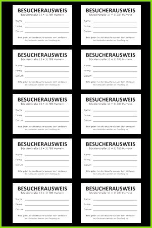 TimeControl Besucherbuch Sheet