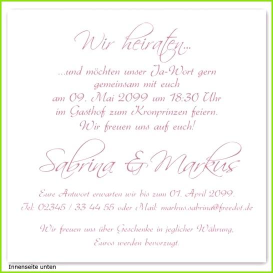 7 Einladungskarten Standesamtliche Hochzeit