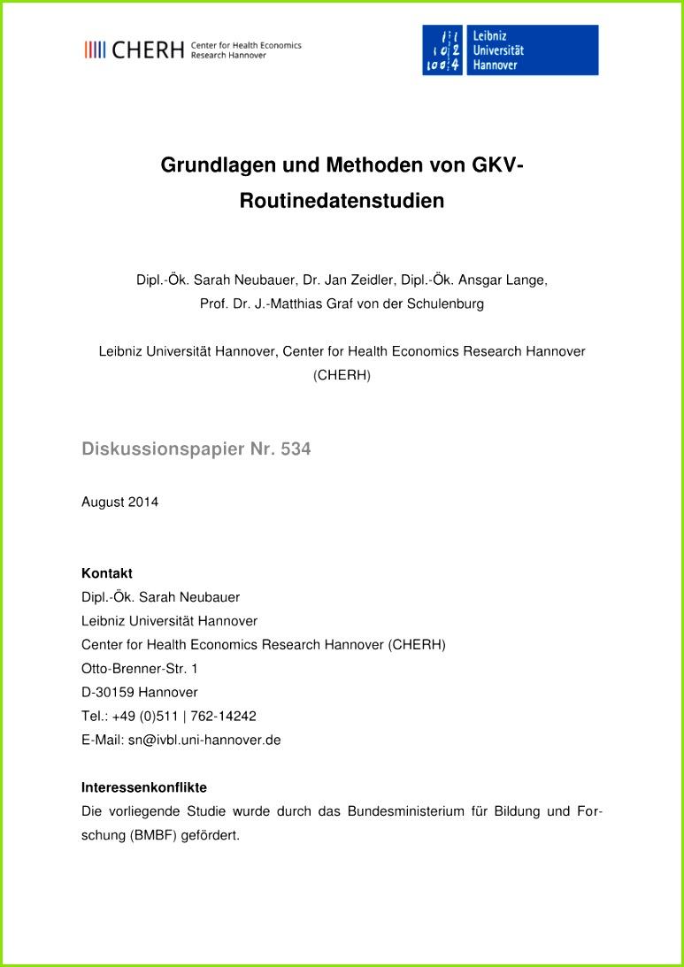 PDF Grundlagen und Methoden von GKV Routinedatenstu n