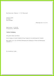 Kündigung Vertrag Vorlage O2