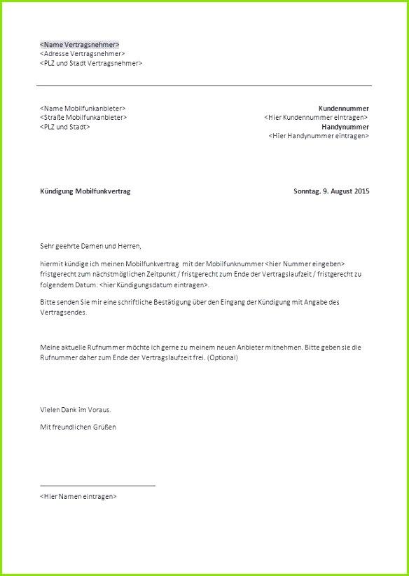 Muster Kündigung Mobilfunkvertrag Einzigartiges Beurlaubung Schule Muster Einzigartiges Muster Kündigung Mobilfunkvertrag