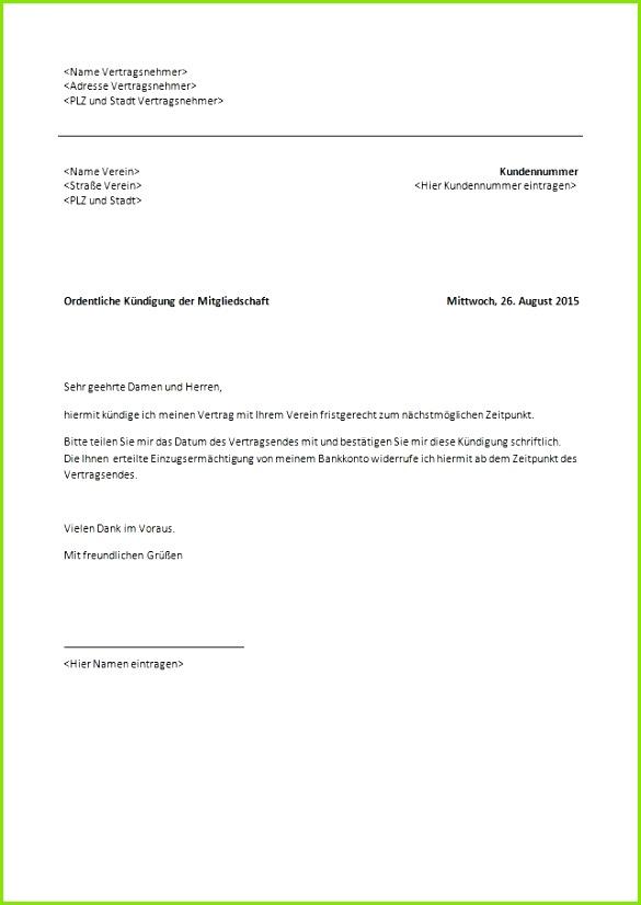 Vorlage Kündigung Mietverhältnis Abmeldung Schule Muster