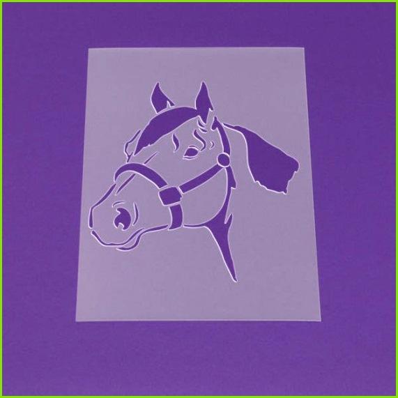für Dein Zuhause direkt vom Hersteller ····················································· Motivschablone Pferd Pferdekopf