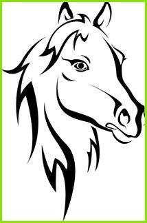 Schwarzes Pferd Silhouette auf weißem Vektorgrafik
