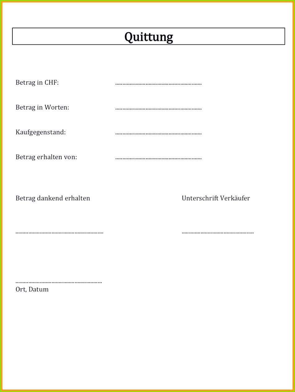 Quittung Vorlage Excel Gut Quittung Schreiben Muster Quittung
