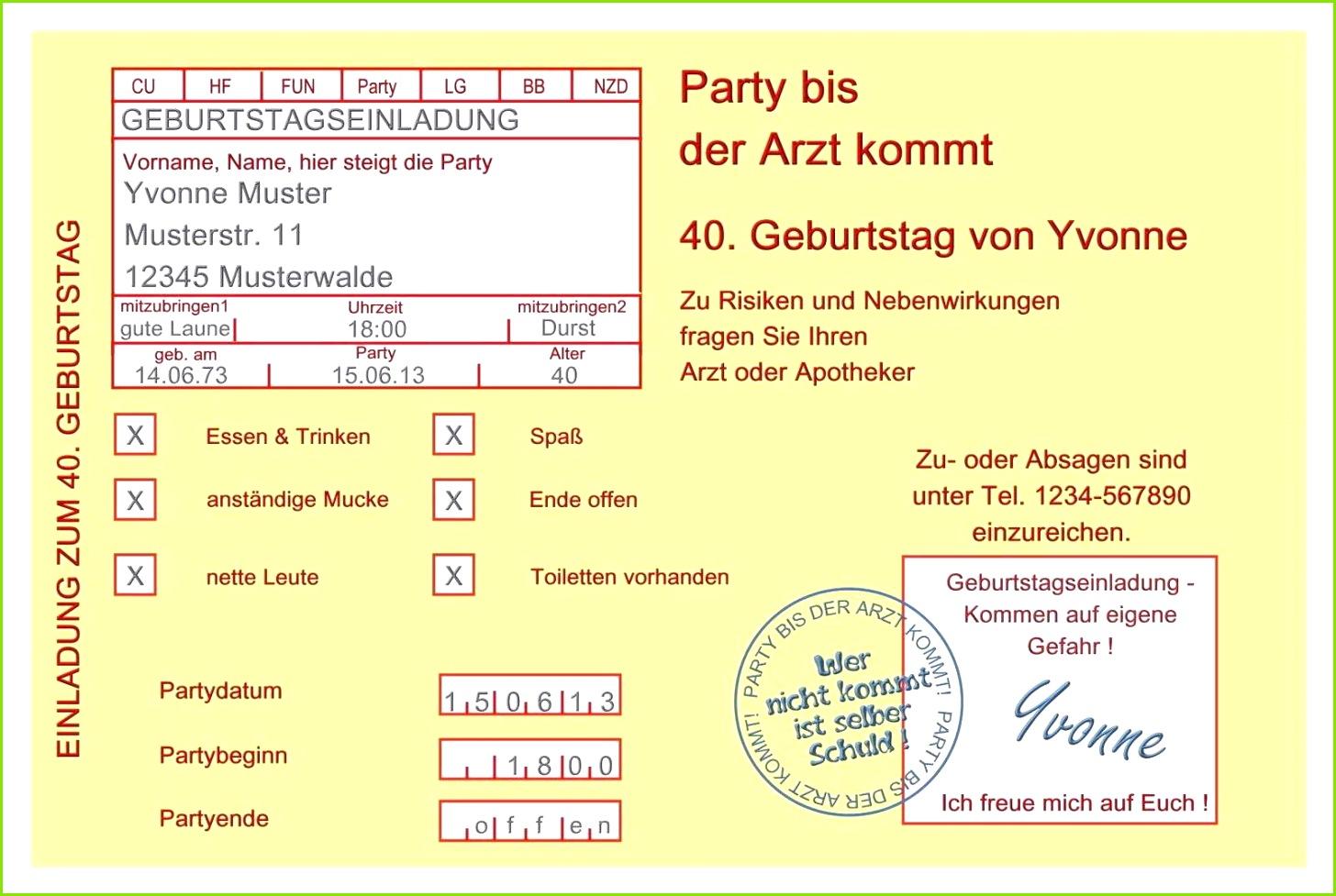 Einladung 50 Geburtstag originell Einladungskarten Vorlagen Geburtstag Vorlagen Einladungen 0d