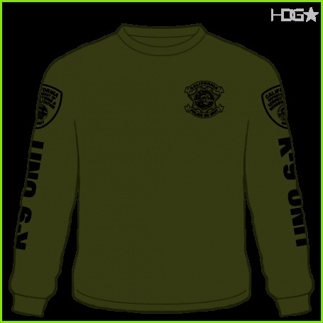 k9 t shirt designs cdcr police k 9 unit od greenblack long sleeve t shirt hdg