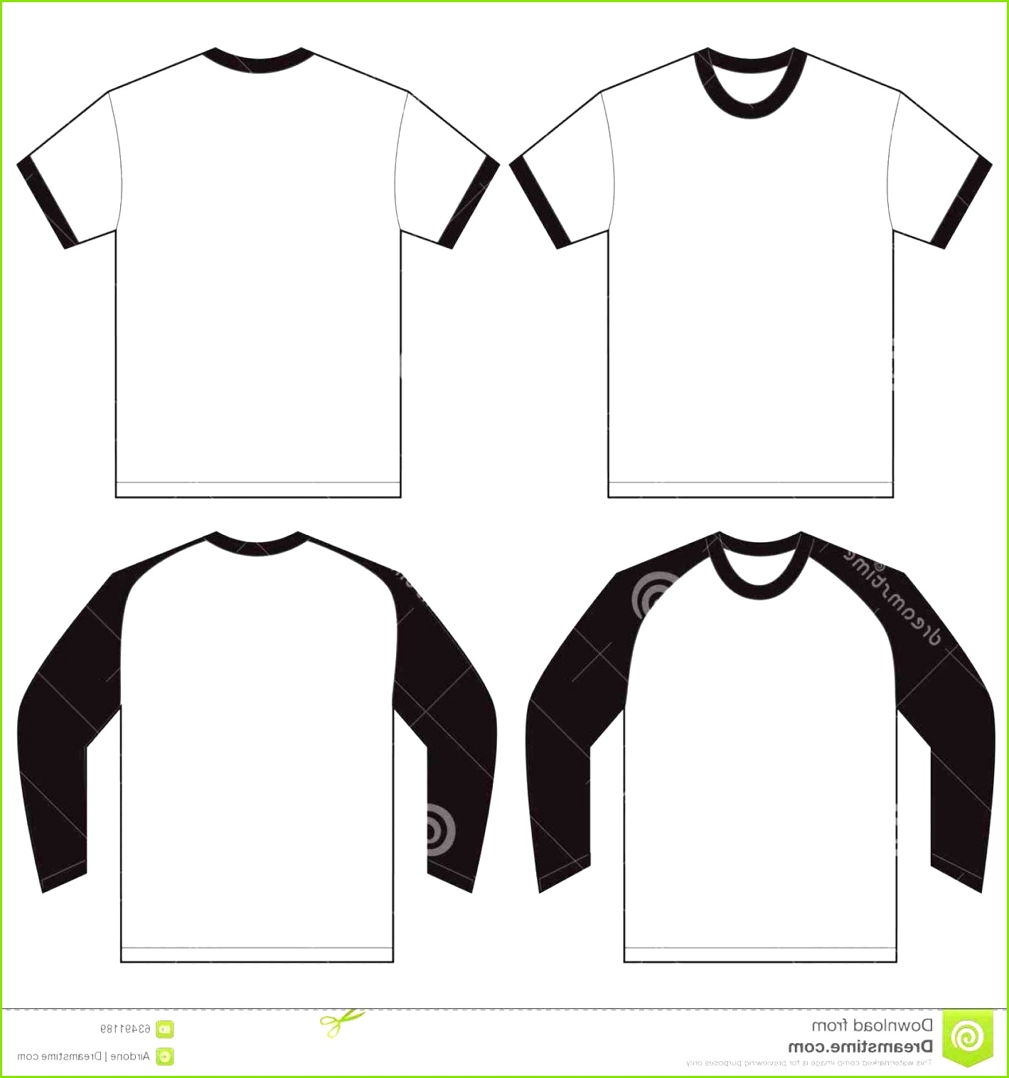 T Shirt Template Black Front and Back Lovely Collar T Shirt Design Illustrator Template Lovely Set