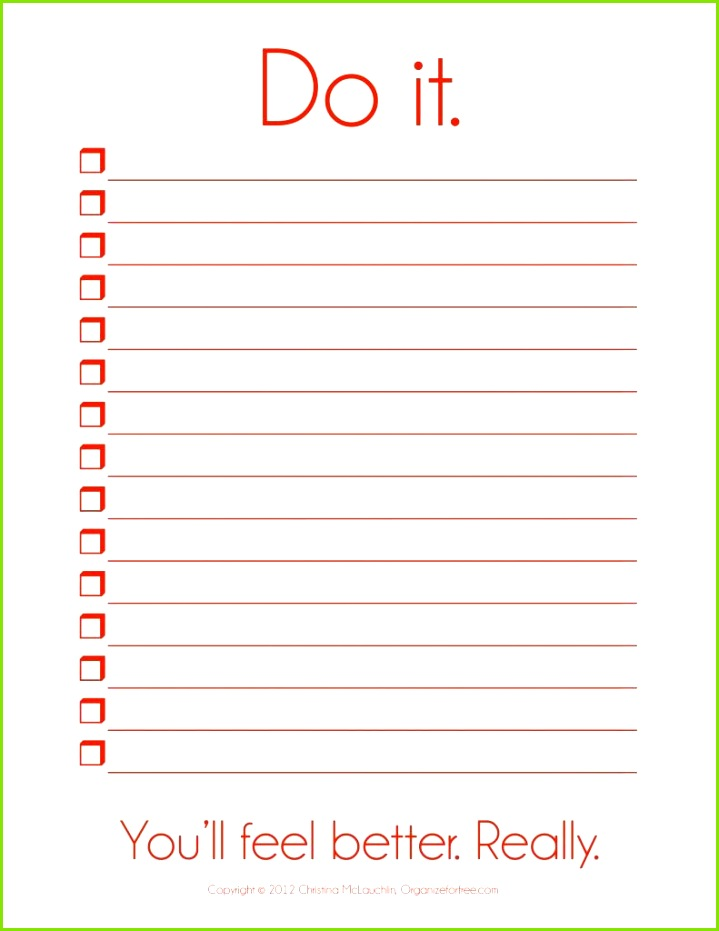 Things To Do Template PDF Free Printable To Do List