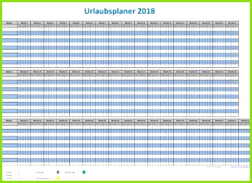 Einfacher Urlaubsplaner 2018 einfacher Ferienplaner 2018 Excel Vorlage zur einfachen Planung der Ferientermine deiner Mitarbeiter