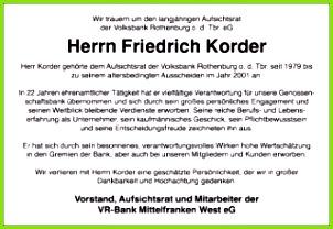 Danksagungen Schön Beerdigung Dankesanzeige Trauer Anzeige Von Friedrich Korder