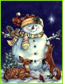 Jolly Snowman by Donna Race Lustige Weihnachtsbilder Schneemann Winter Weihnachten Ostern Karten