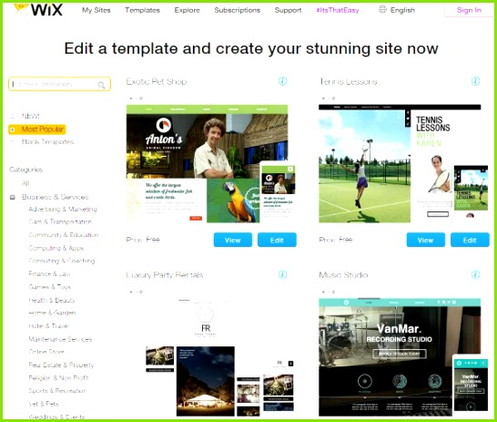 Wix – Which is Right for You Themes and Templates