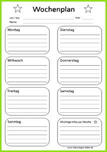Wochenplan zum Ausdrucken und Ausfüllen Wochenplan Zum Ausdrucken Wochenplan Vorlage Haushaltsbuch Kalender Basteln