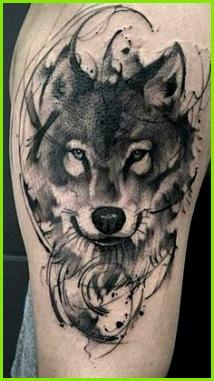 Wolf tattoo Feen Tattoo Tattoo Künstler Coole Tattoos Traum Tattoos Brust Tattoo