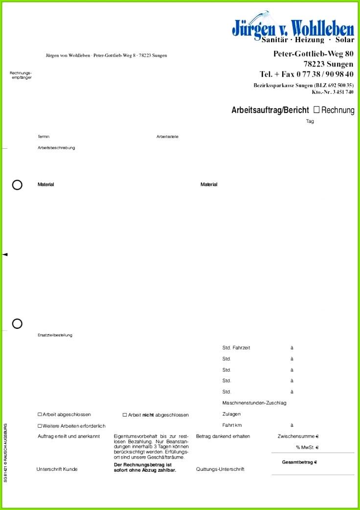 atemberaubend formular arbeitsauftrag auftragsformulare mit durchschlag von montageberichte vorlagen