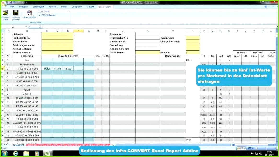 beste infra convert erstmusterprufbericht mit excel erstellen von erstmusterprufbericht vorlage