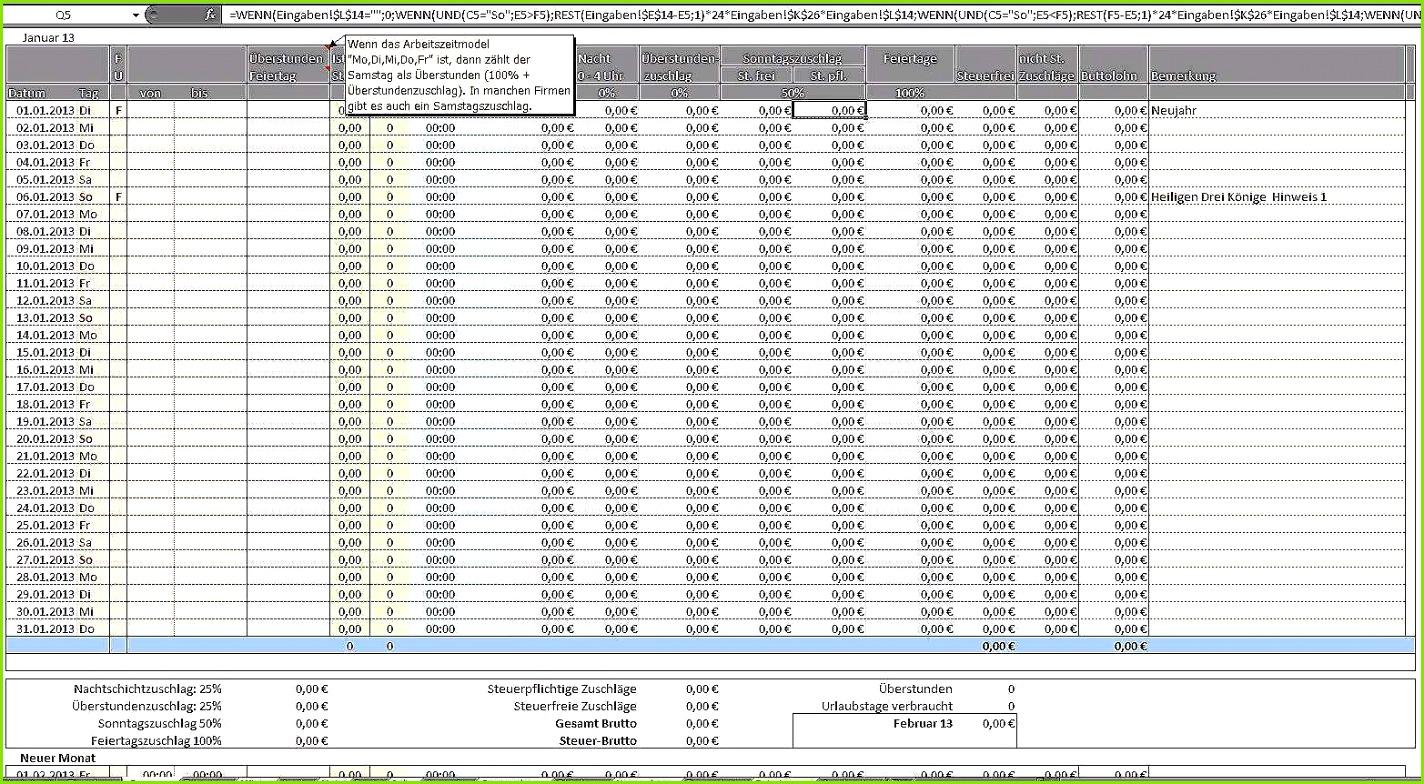 15 Arbeitszeit Berechnen Excel Vorlage