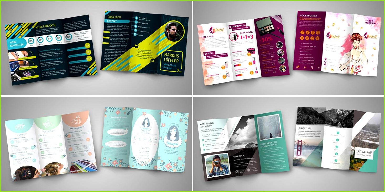 Vorlagen für unterschiedliche Muster für Flyer & Folder in unterschiedlichen Stilen gestalten Die Muster stehen für Bearbeitung
