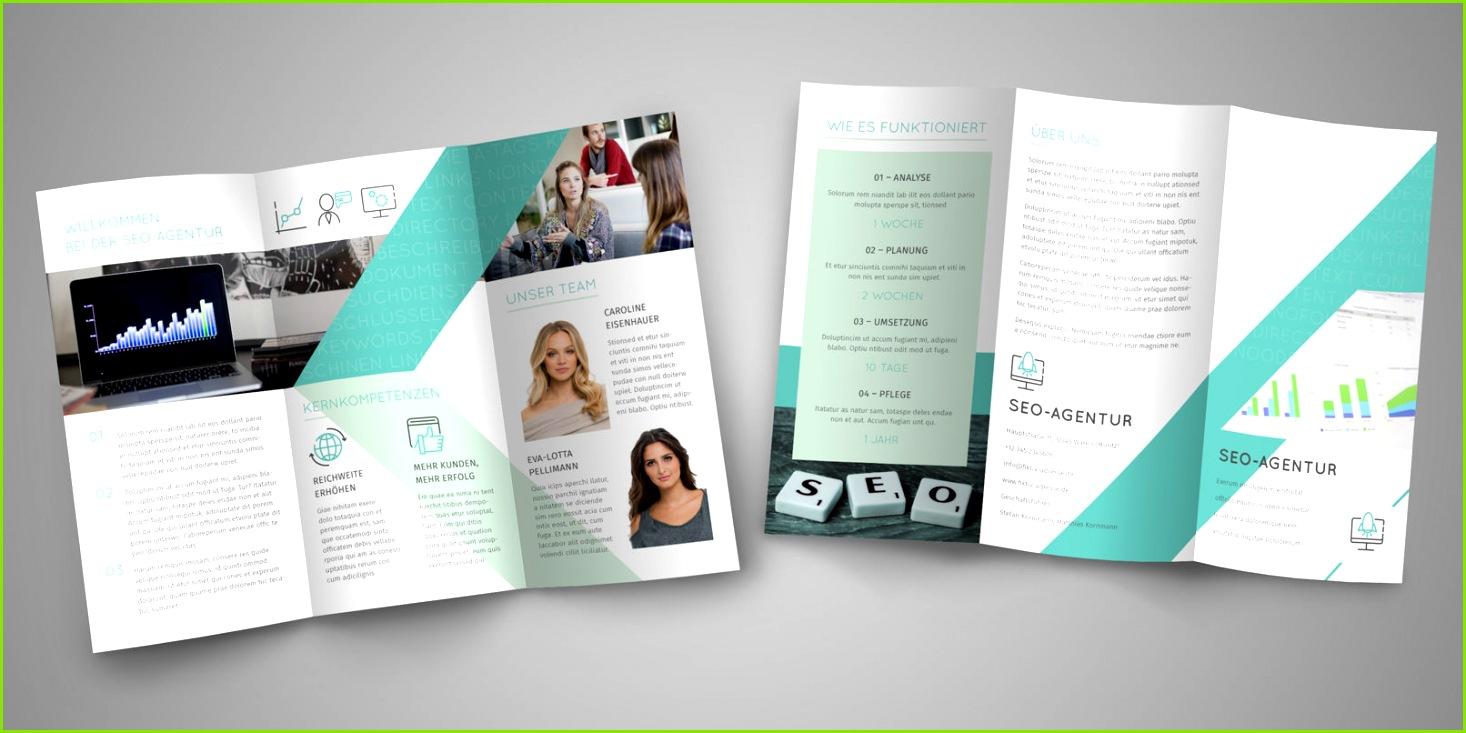 Flyer Vorlage für IT Unternehmen und frei anpassbar Füge dein Logo ein