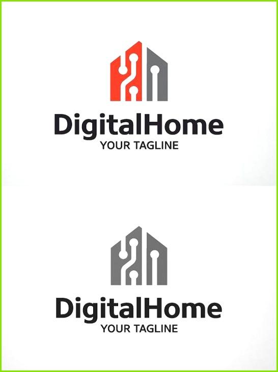 Digital Home Smart Home Logo Template Logo Design Template Custom Logo Design Custom