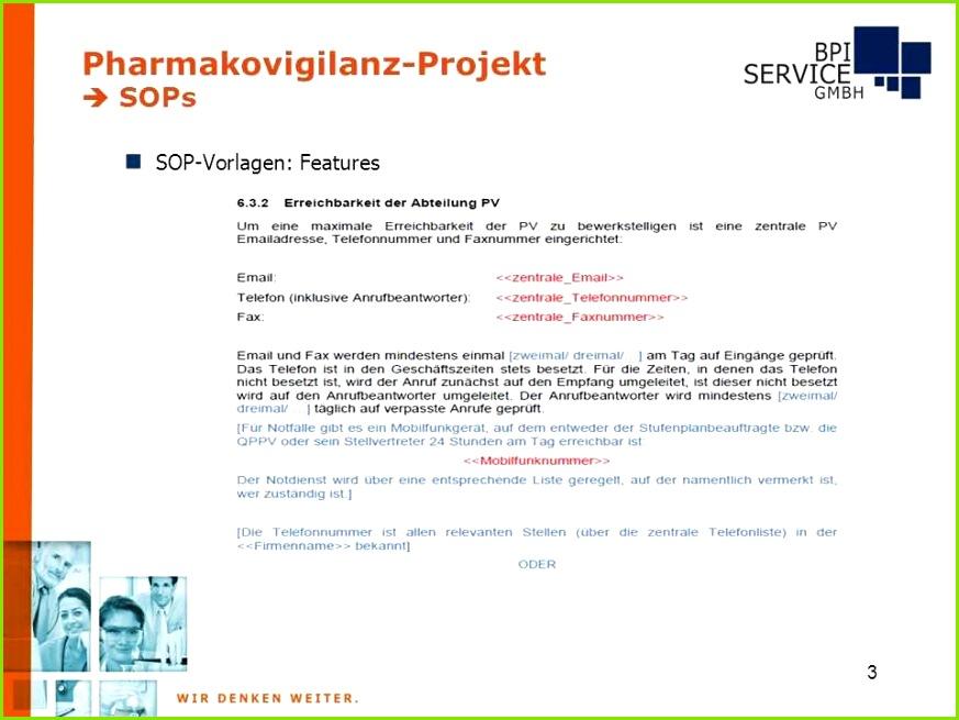 Sop Vorlagen Medizin Großartig Pharmakovigilanz Projekt Sops Ppt