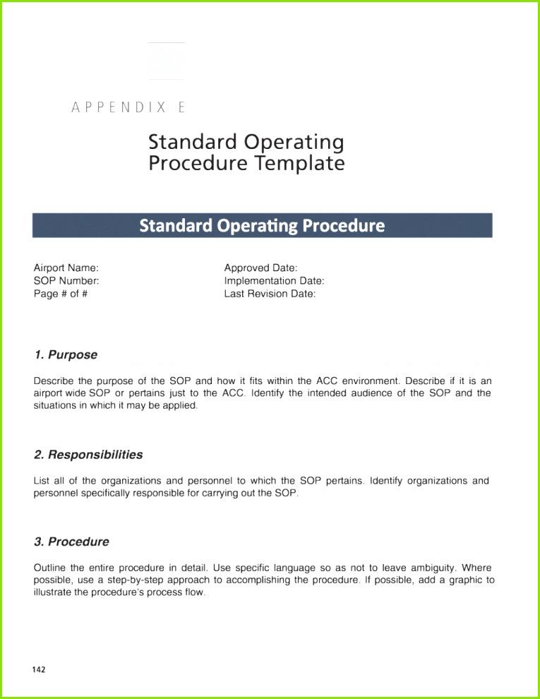 standard operating procedure medizin