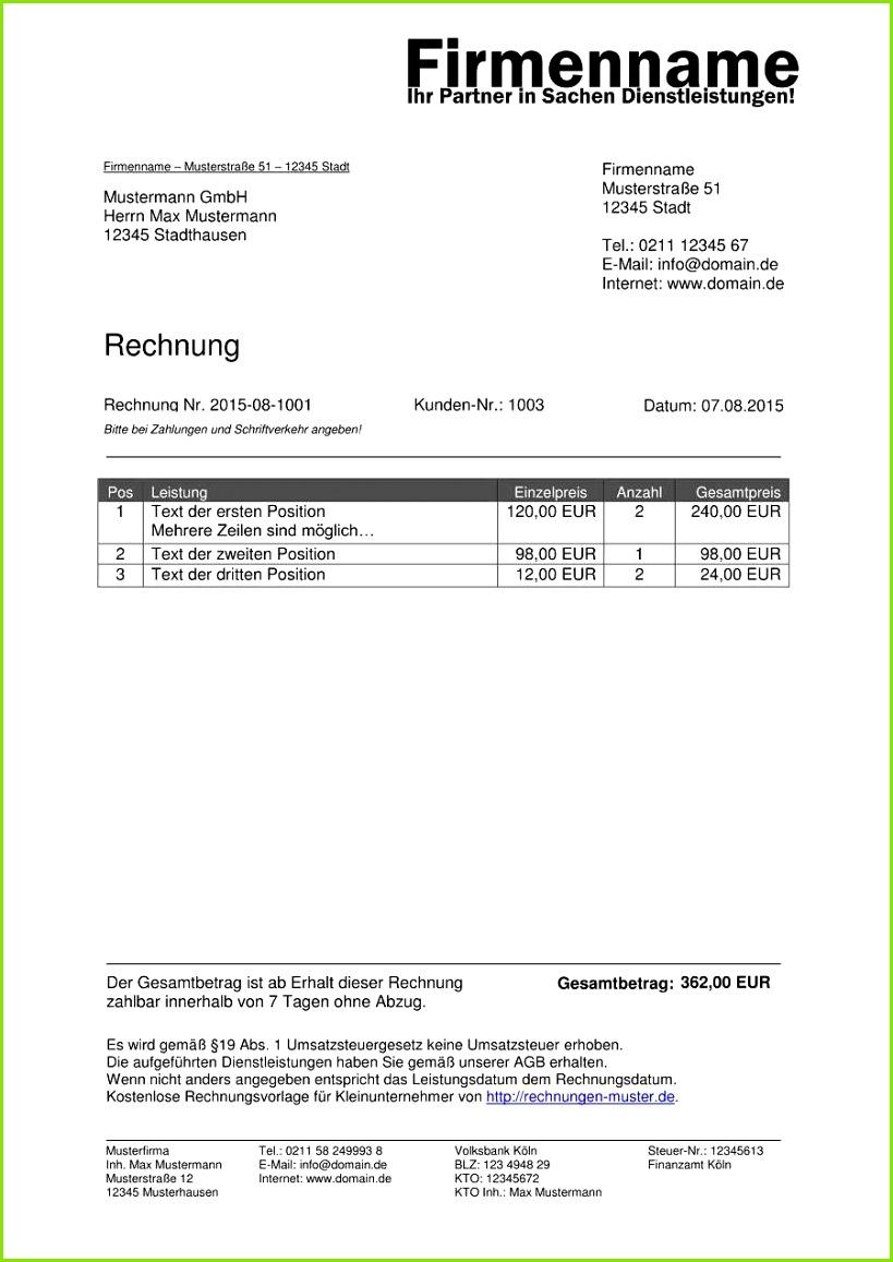 Vorlage Ankundigung Von Renovierungsarbeiten Schonste Kleinunternehmer Rechnung Rechnungsvorlagen Fur Der Vorlage Ankundigung Von Renovierungsarbeiten