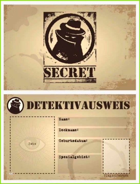 detektivausweis vorlage pdf wunderbar detektivausweis kindergeburtstag vorlage papacfo der detektivausweis vorlage pdf