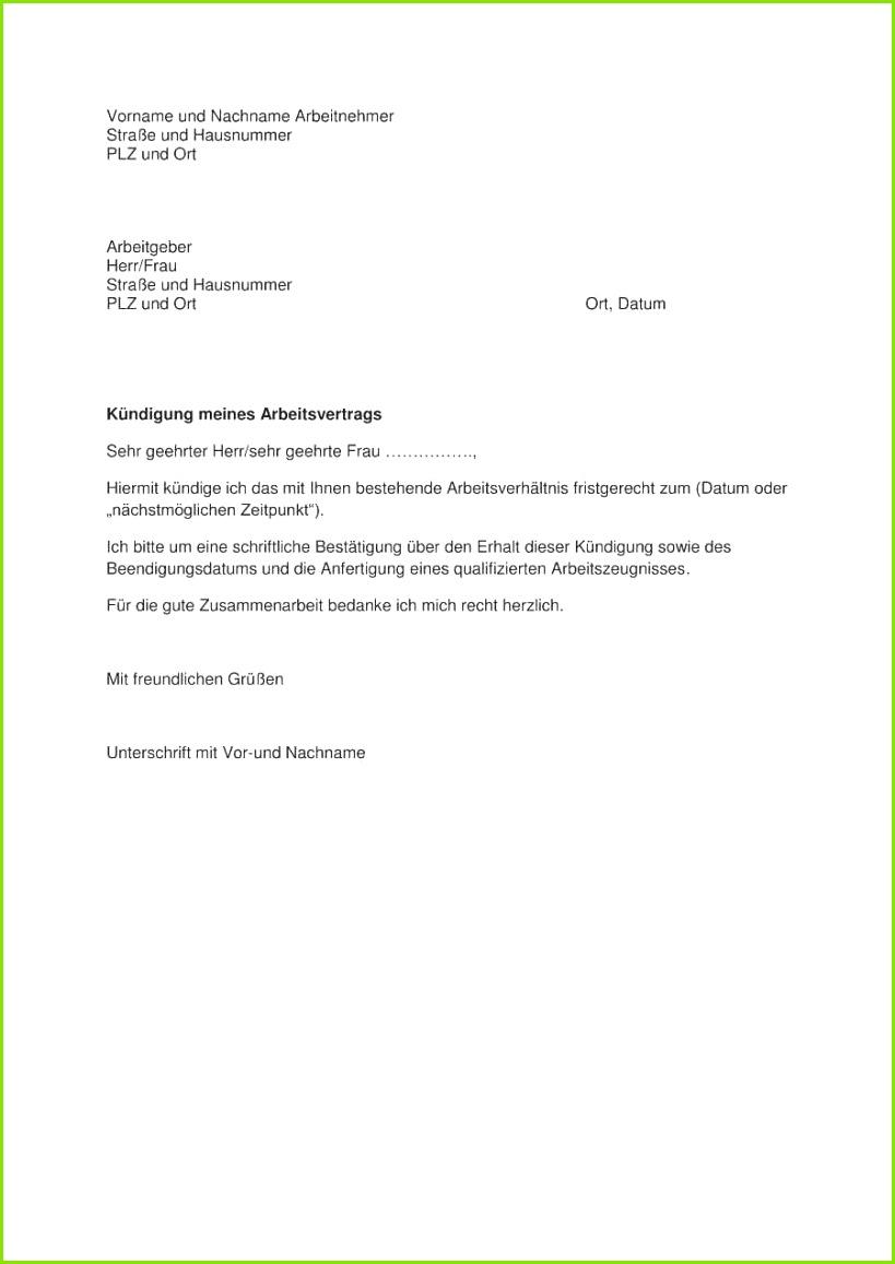 Kundigung Arbeitsvertrag Pdf Die Besten Arbeitsvertrag Kundigung Vorlage Der Kundigung Arbeitsvertrag Pdf