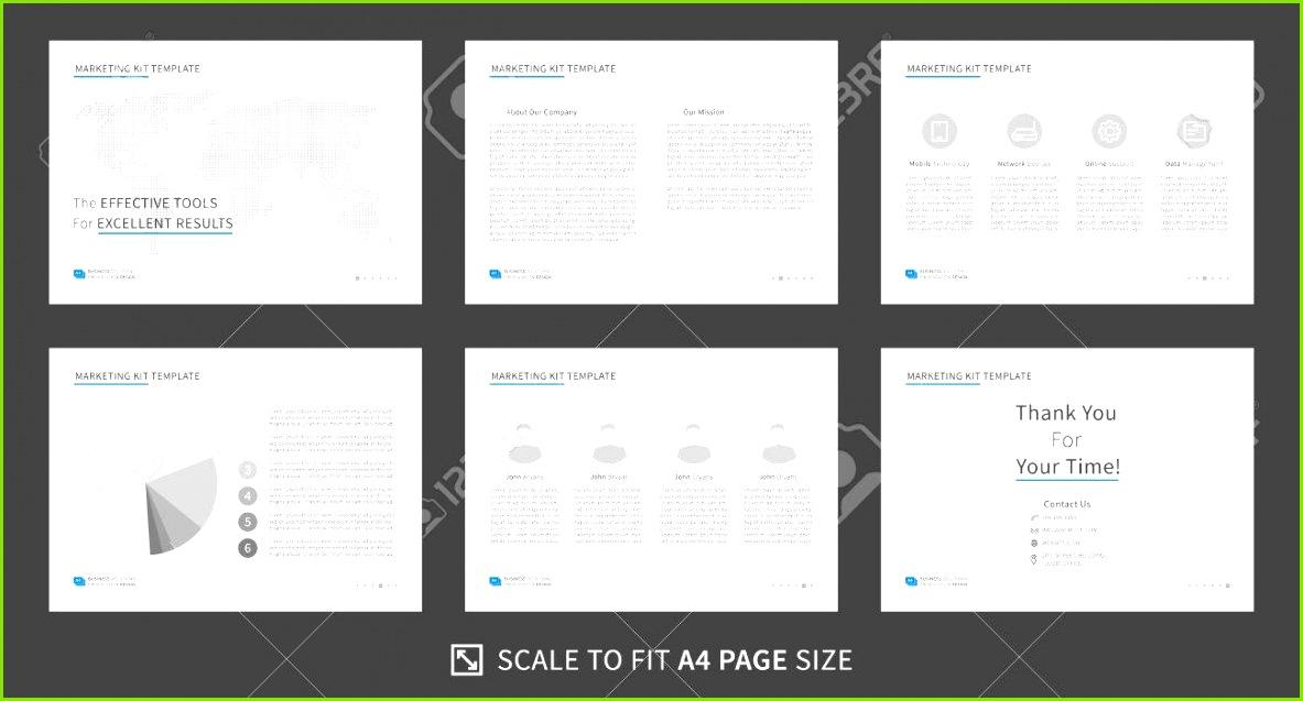 marketing kit presentation vector template modern business presentation creative design power point