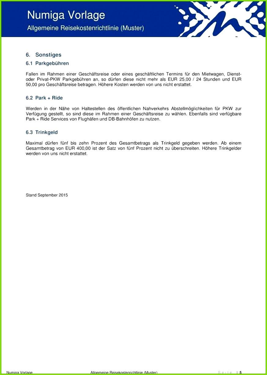 wunderschonen numiga vorlage allgemeine reisekostenrichtlinie muster von reisekostenrichtlinie vorlage