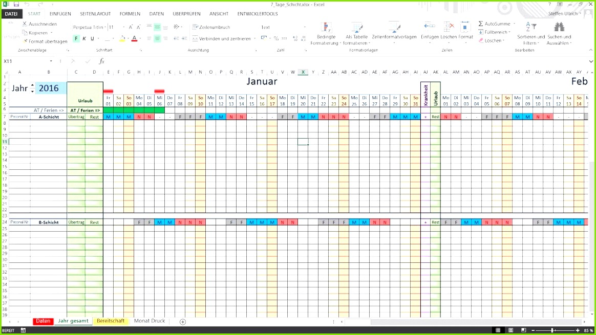 Urlaubsplaner 2017 Excel Schichtplan Erstellen Excel Kostenlos Elegant Dienstplan Excel Urlaubsplaner 2017 Excel 6