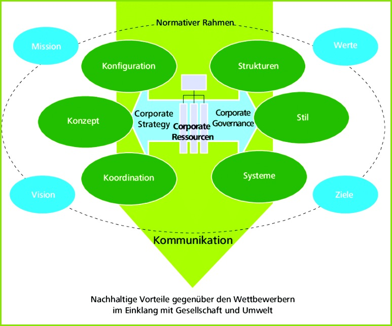 Abbildung 10 Das St Galler Corporate Management Model Externer Kontext Interner Kontext