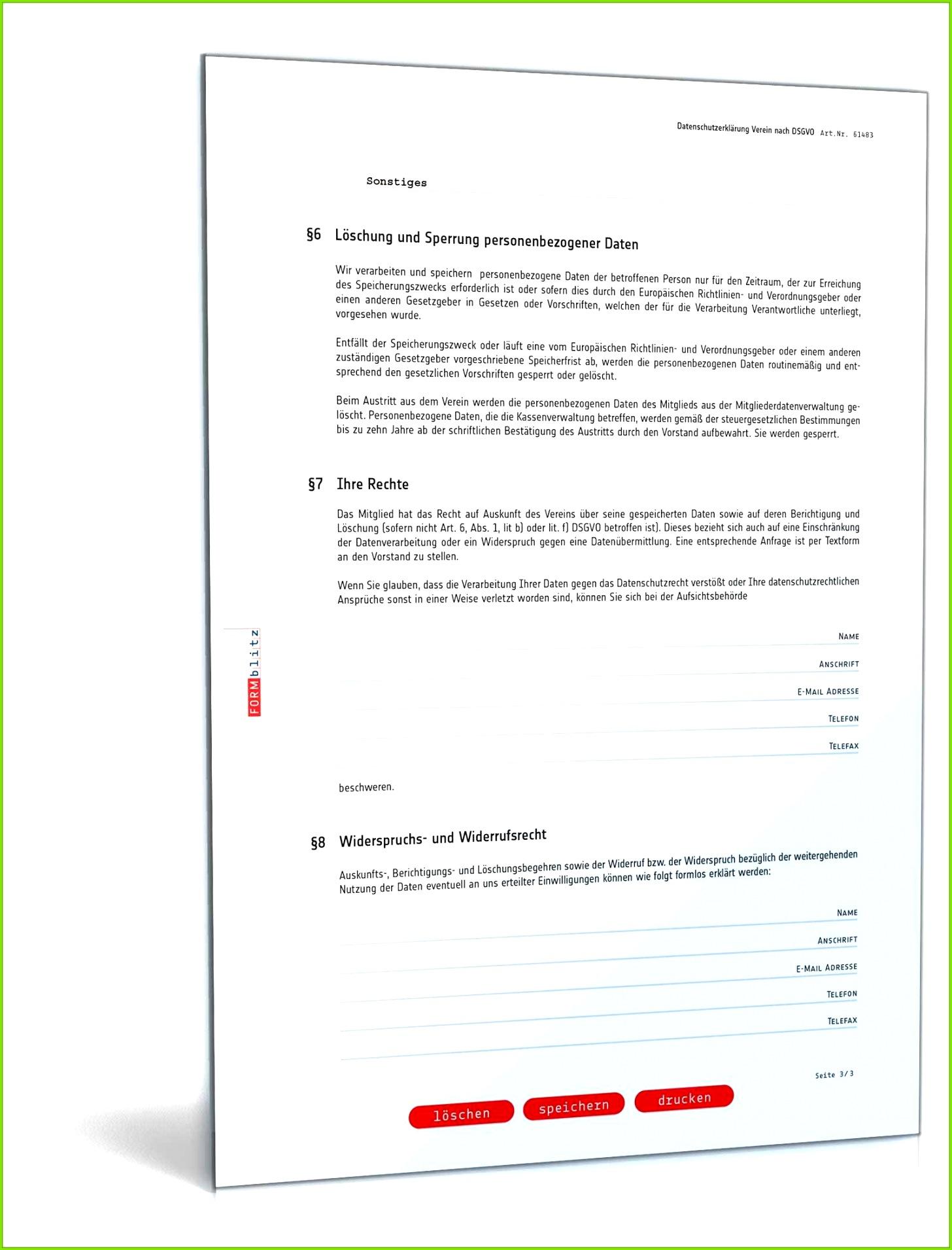 unvergleichlich datenschutzerklarung verein muster zum von einwilligungserklarung dsgvo vorlage verein