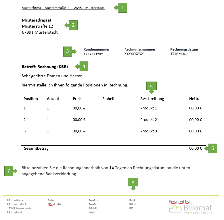Kleinunternehmer Rechnung Vorlage Und Muster