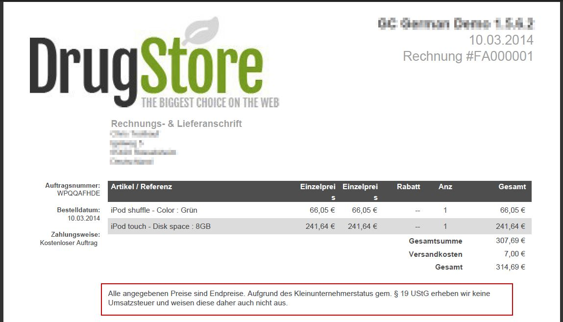 Gc German Blog Blog Archive Kleinunternehmerregelung Im Prestashop